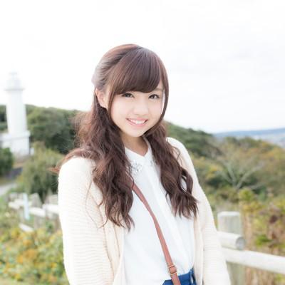 「太東崎灯台で彼女とデート」の写真素材