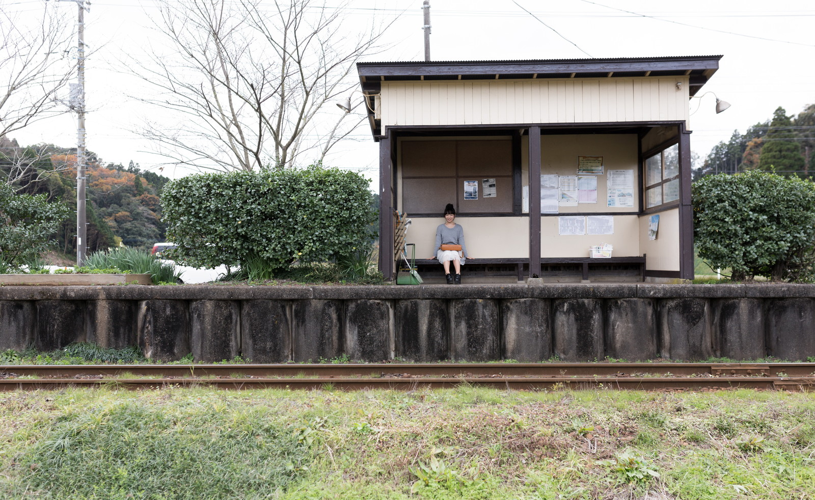 いすみ鉄道新田野駅(無人駅)