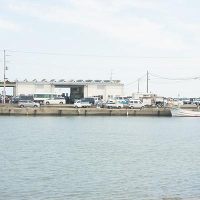 「千葉県いすみ市大原漁港」の写真素材