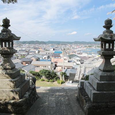 「小浜八幡神社からの街並み」の写真素材