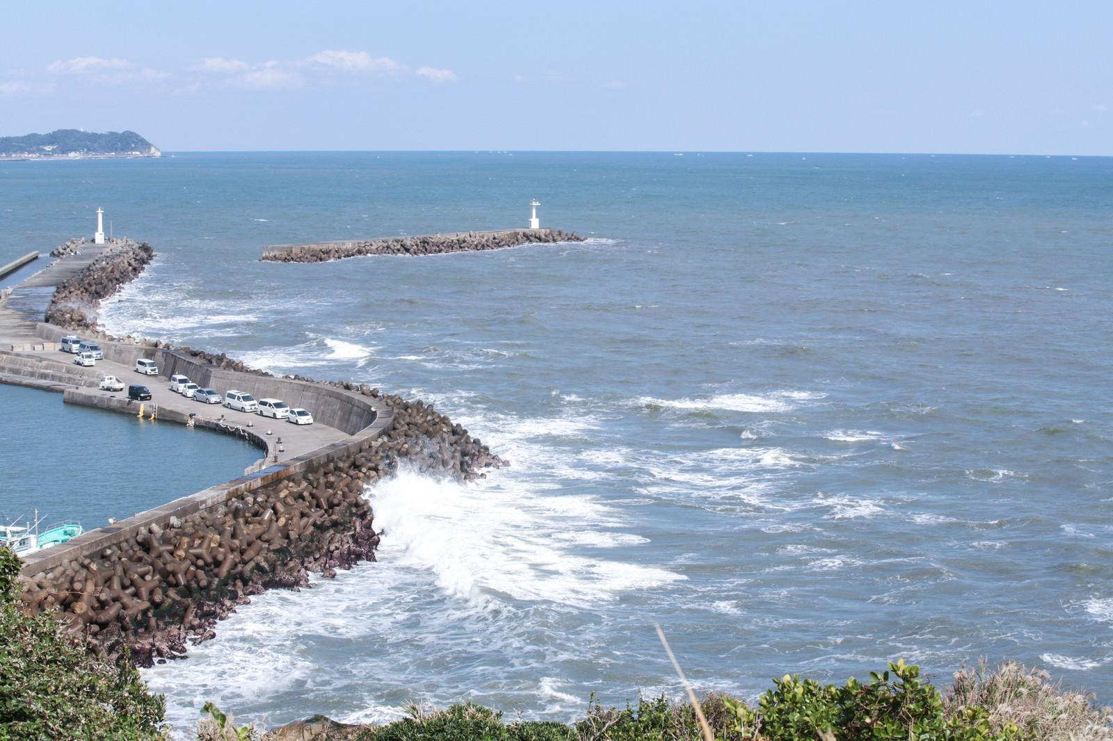 「小浜八幡神社からの外房の海」の写真