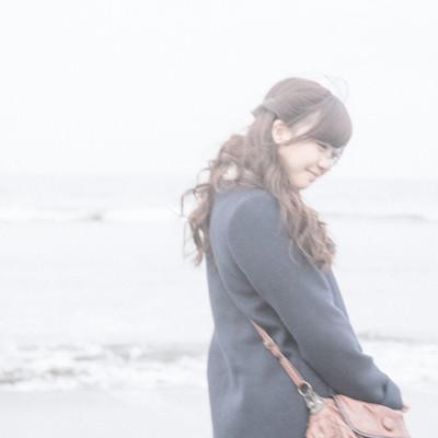 「冬に行った海の思い出」の写真素材