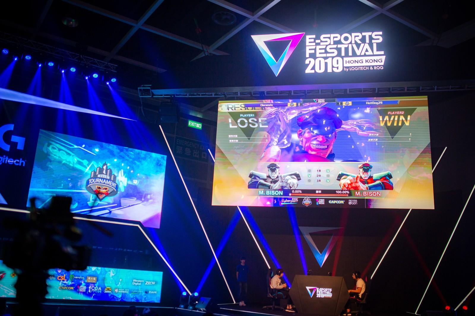 「勝敗が決まる様子 - E-Sports Festival Hong Kong 2019」の写真