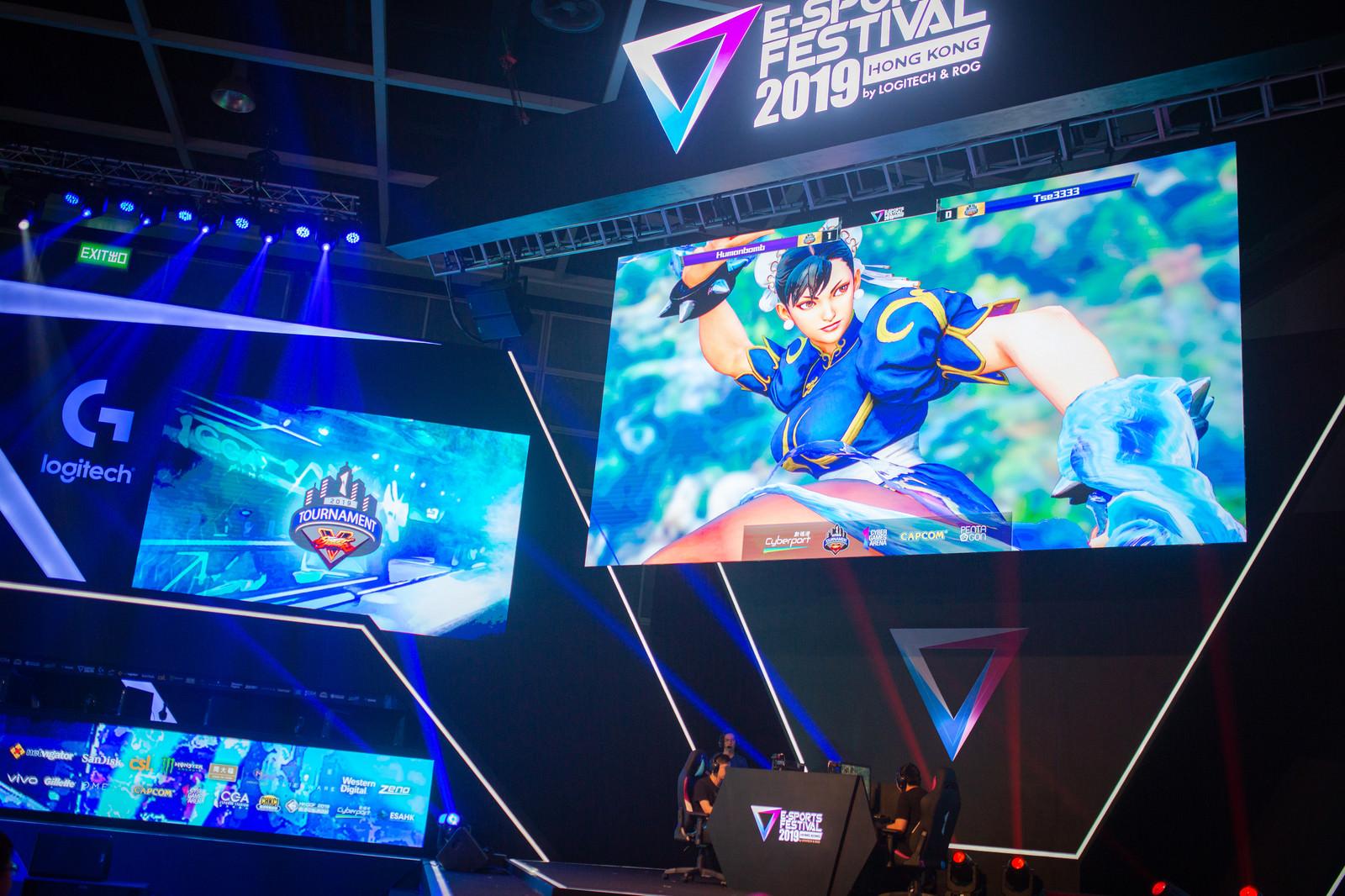 「勝利を決める春麗使いの選手 - E-Sports Festival Hong Kong 2019」の写真