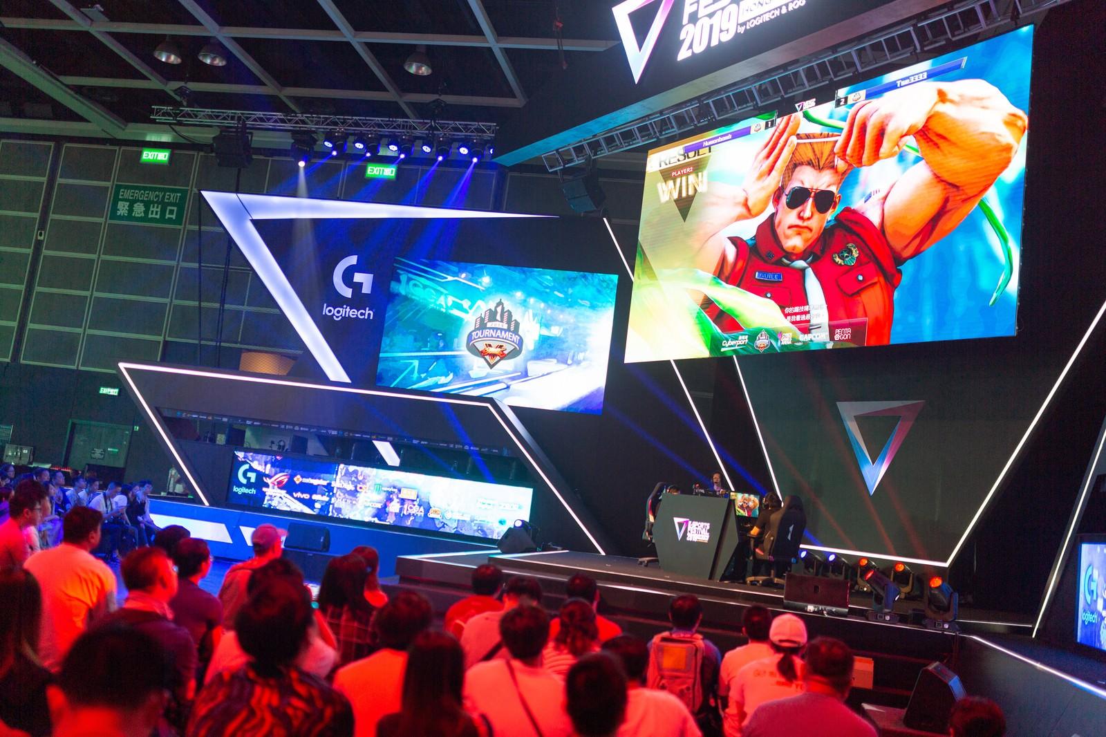 「ガイルの勝利が確定した様子 - E-Sports Festival Hong Kong 2019」の写真