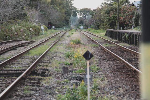 いすみ鉄道の線路の写真
