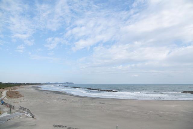 冬の大原海水浴場の写真