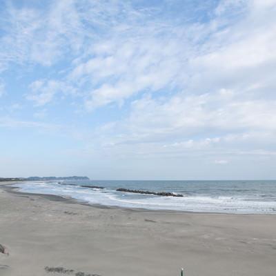 「冬の大原海水浴場」の写真素材
