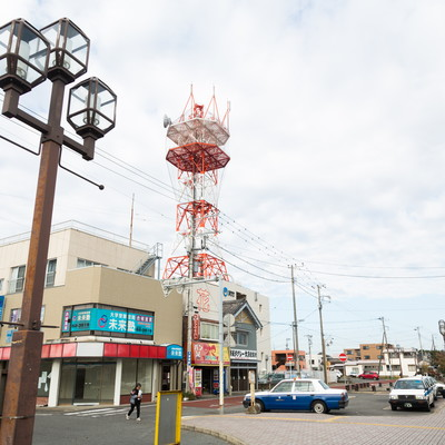 「千葉県いすみ市大原駅前」の写真素材