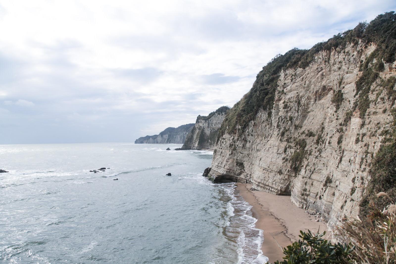 「断崖絶壁の房総半島」の写真
