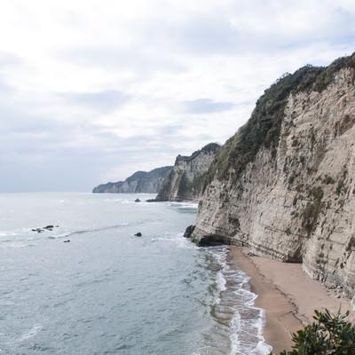 「断崖絶壁の房総半島」の写真素材