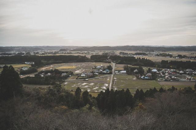 高台から眺めるいすみ市の風景の写真