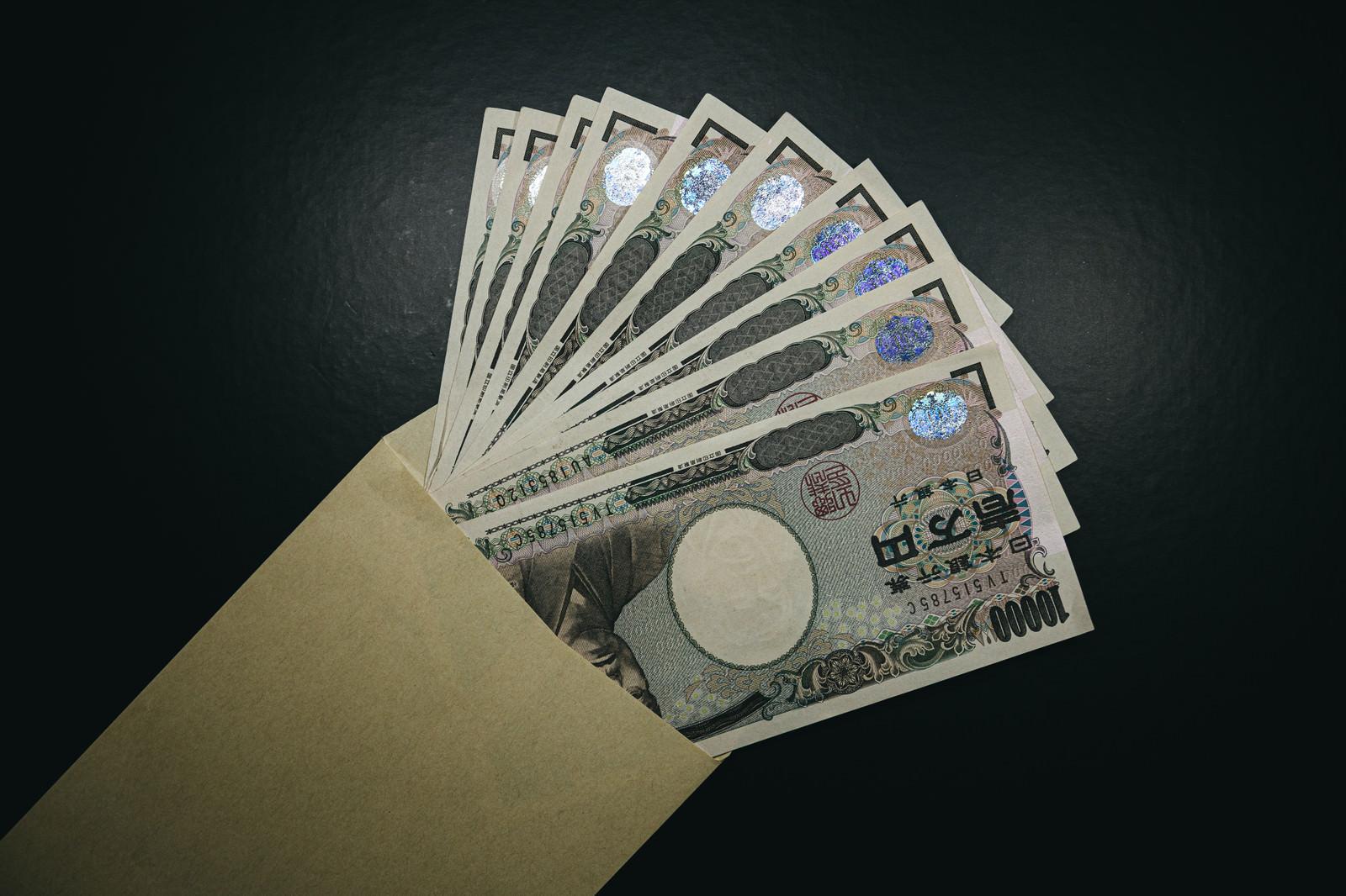 「封筒を開けたら10万円が入っていた」の写真