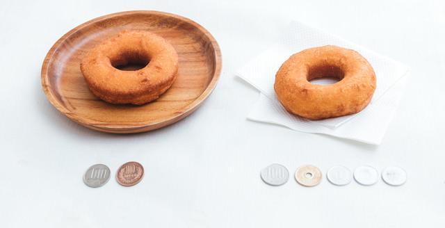 110円と108円のドーナッツの写真