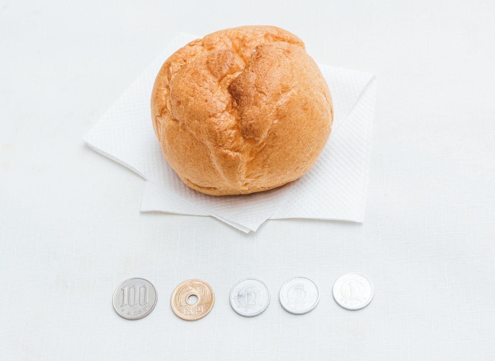 「テイクアウトしたシュークリーム(108円)」の写真