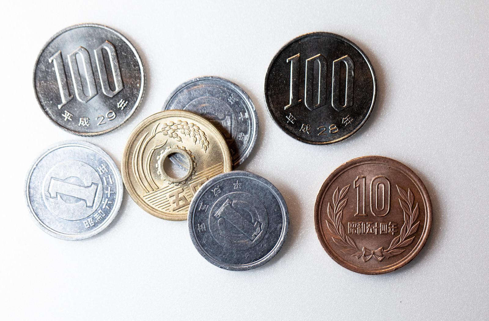「108円と110円」の写真
