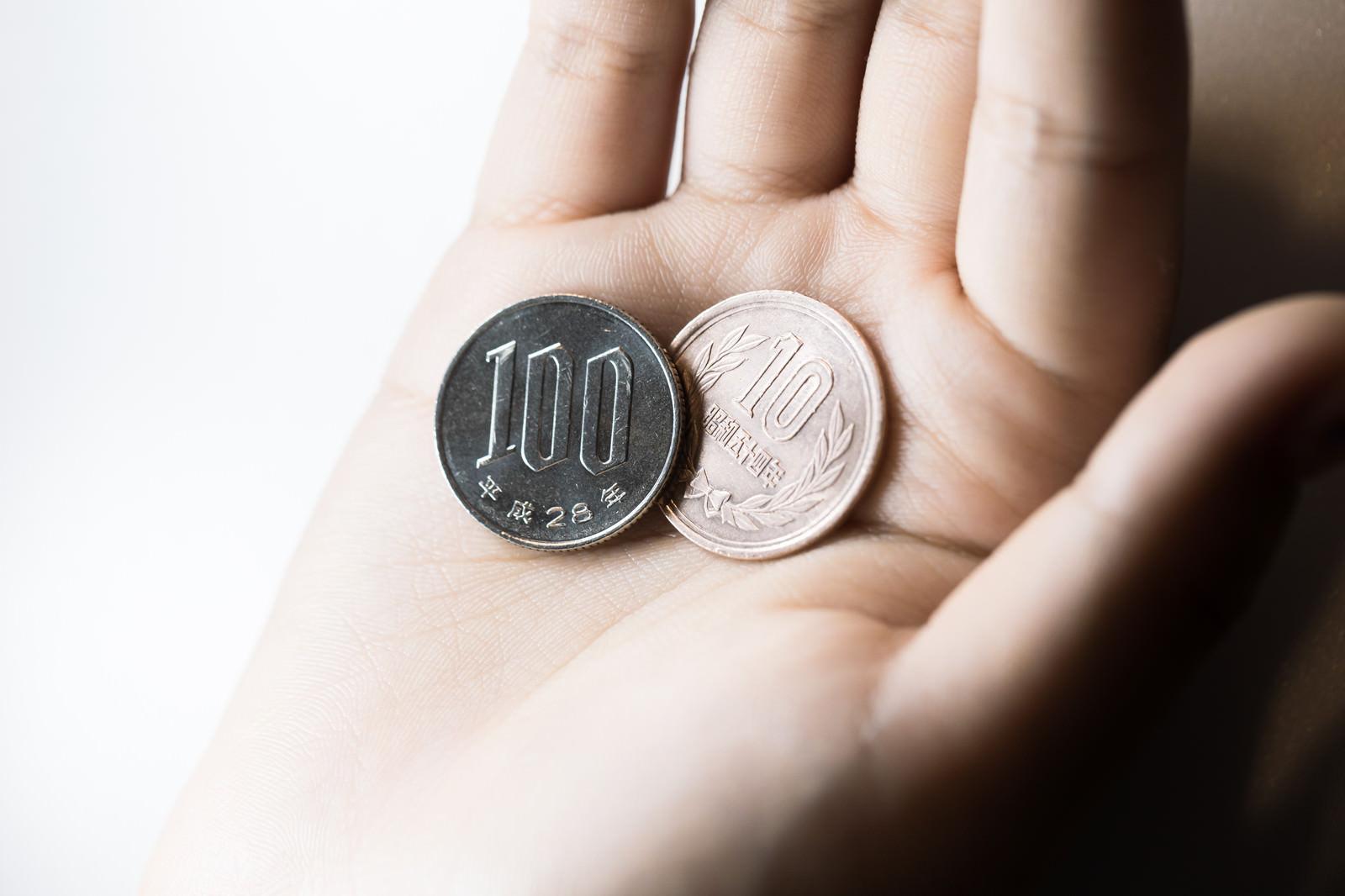 「お会計税込み(10%)110円です。」の写真