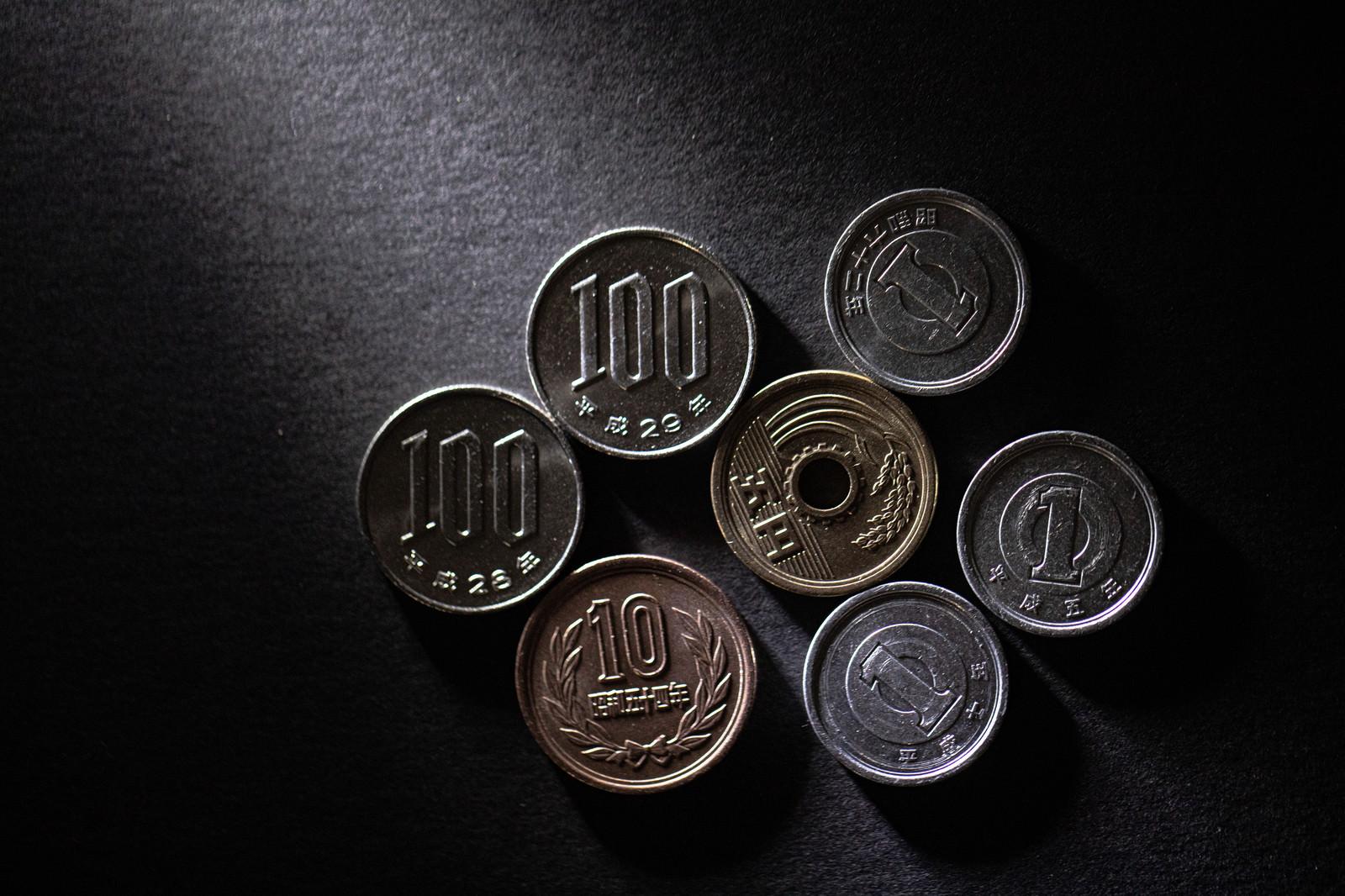 「218円の小銭」の写真