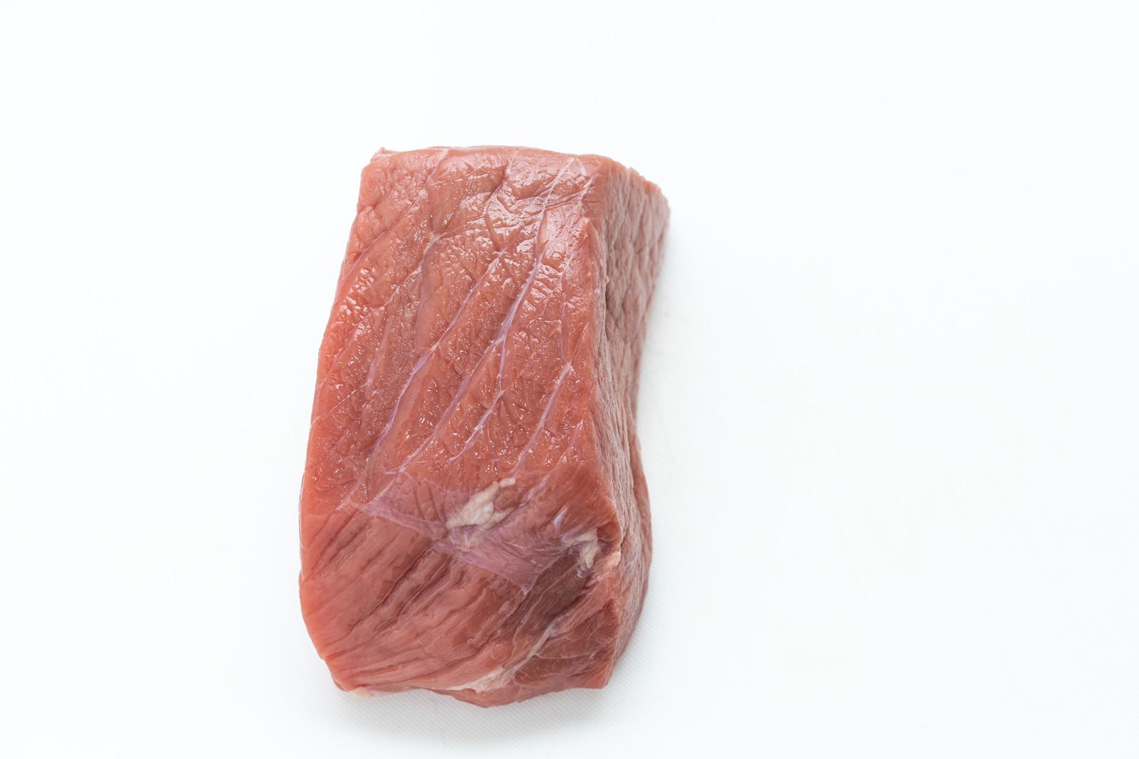 「真上から見たかたまりブロック肉」の写真