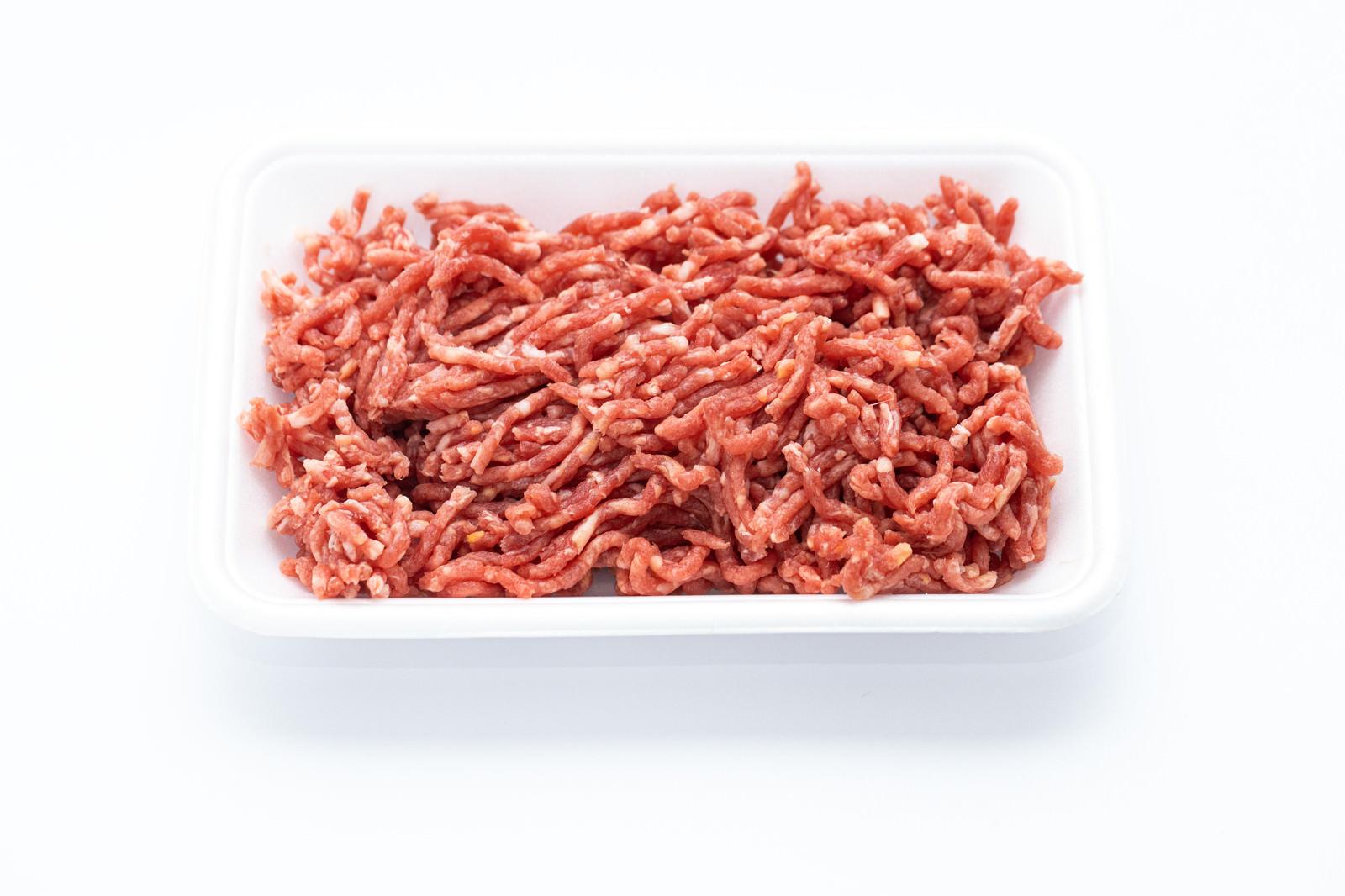 「牛豚挽肉(解凍)」の写真