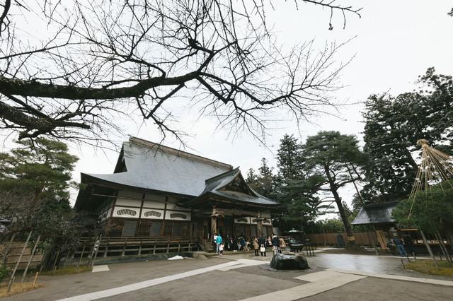世界遺産の関山中尊寺本堂の写真