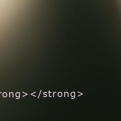 強調してないストロングタグの写真