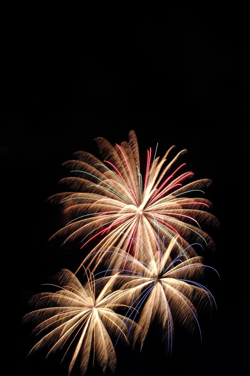 「打ち上げられた花火」の写真