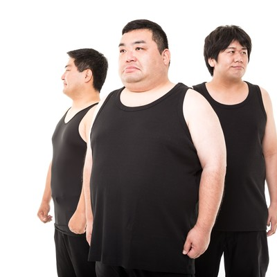「これでも糖質制限ダイエット中の三銃士を連れてきたよ」の写真素材