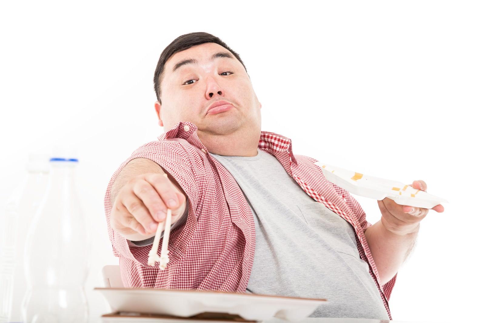 「食欲は我慢するものではなく、満たすものだ。」[モデル:横山ともや]