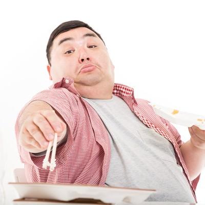 「食欲は我慢するものではなく、満たすものだ。」の写真素材