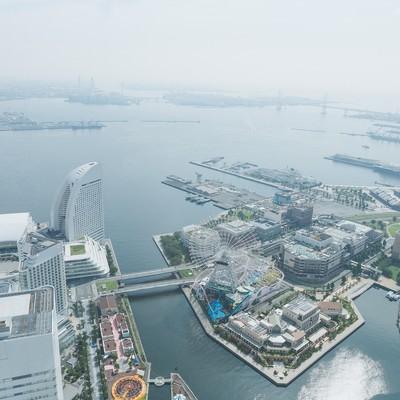 「横浜みなとみらいの景観」の写真素材