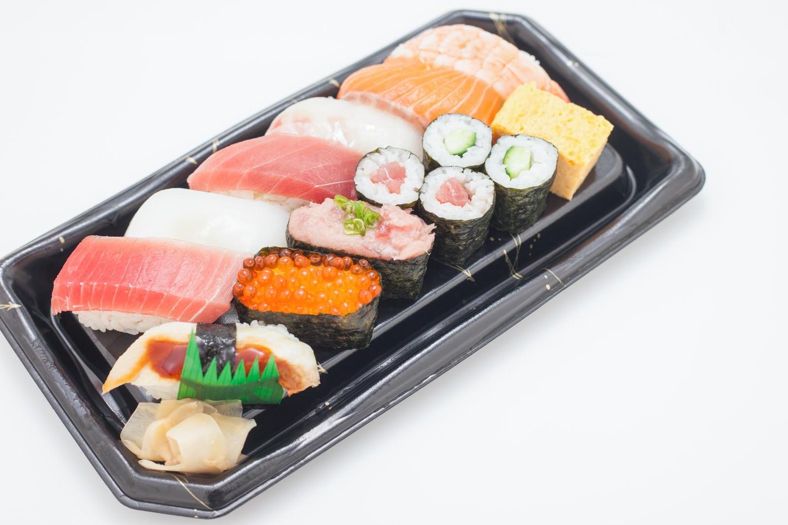 「お寿司のパック」の写真