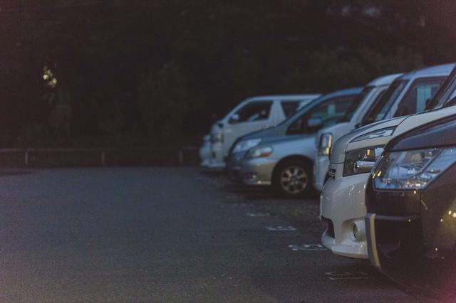 不気味な駐車場の写真