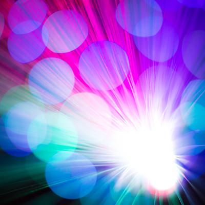 「鮮やかな玉ボケと光の集合」の写真素材