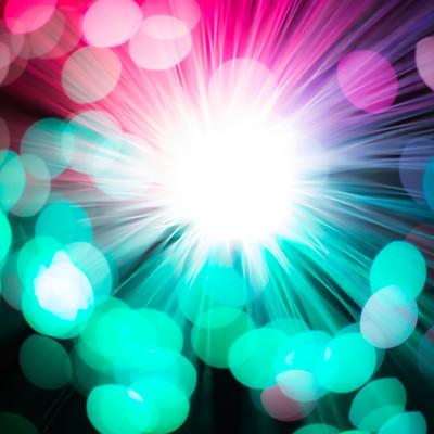 「ビッグバンのような美しさ」の写真素材