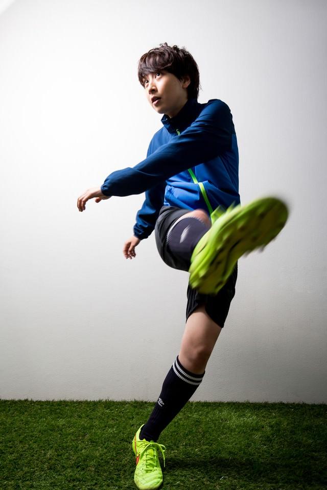 女子サッカー選手の写真