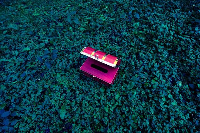 小物入れにも最適な宝箱ティッシュケースの写真