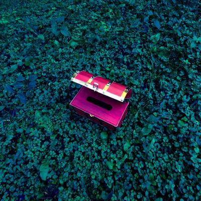 「小物入れにも最適な宝箱ティッシュケース」の写真素材
