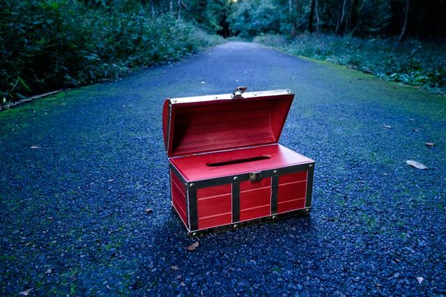 宝箱(ティッシュケース)の写真