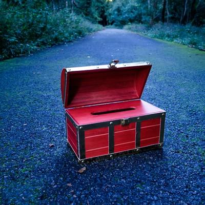 「宝箱(ティッシュケース)」の写真素材