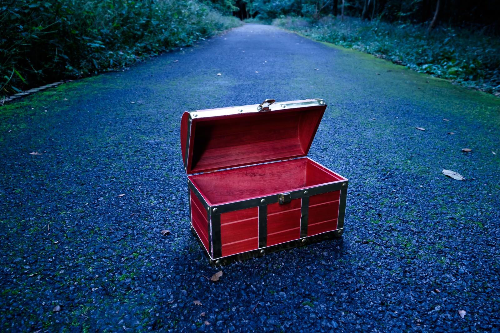 「一度開けたら空きっぱなしの宝箱」の写真