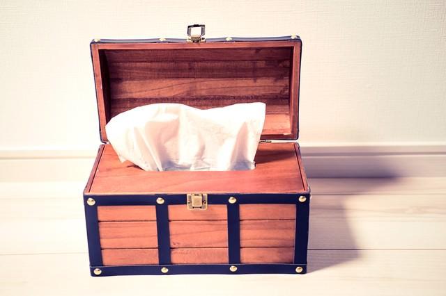 テッシュケース(宝箱)の写真