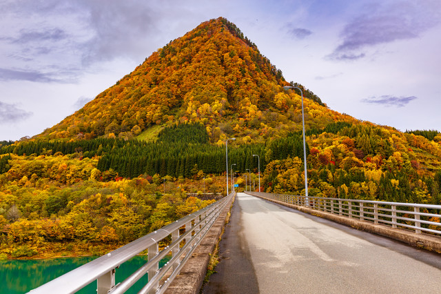 とんがり山(男神山)の紅葉の写真