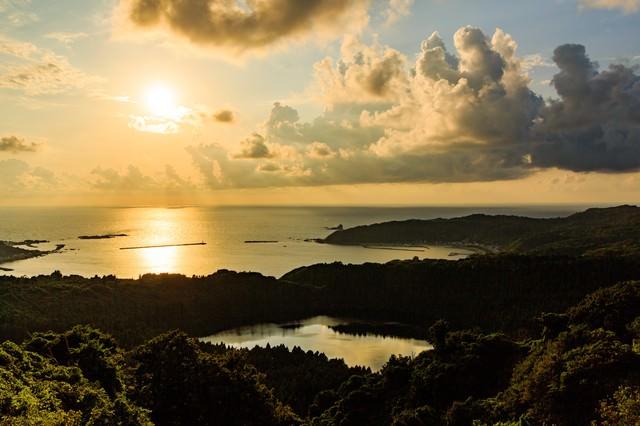 男鹿半島戸賀湾の写真