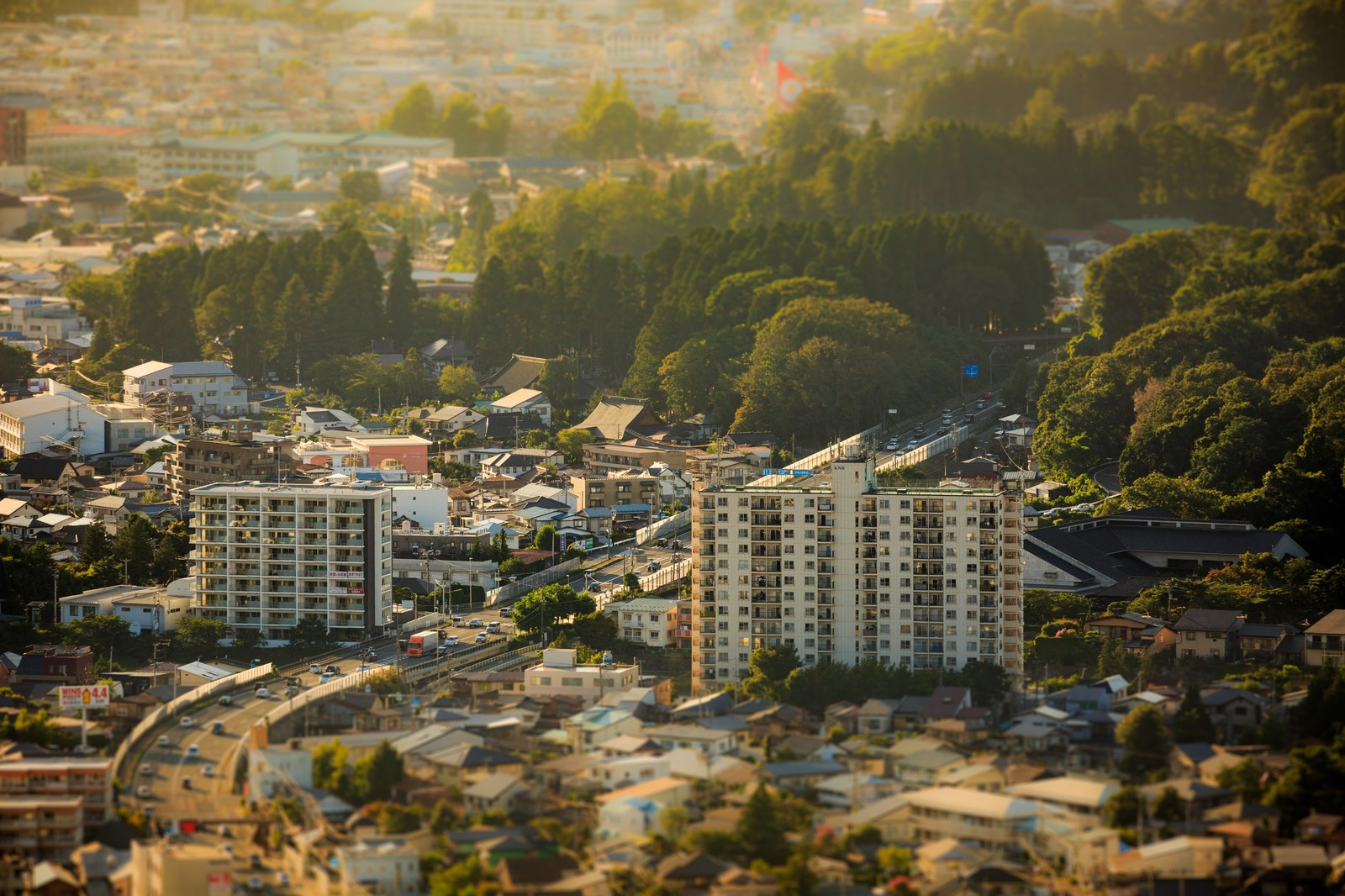 「盛岡市街ジオラマ風」の写真