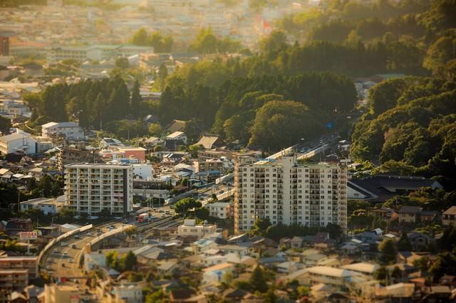 盛岡市街ジオラマ風の写真