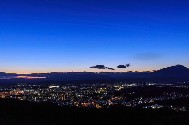 岩山公園からの盛岡市街夜景の写真