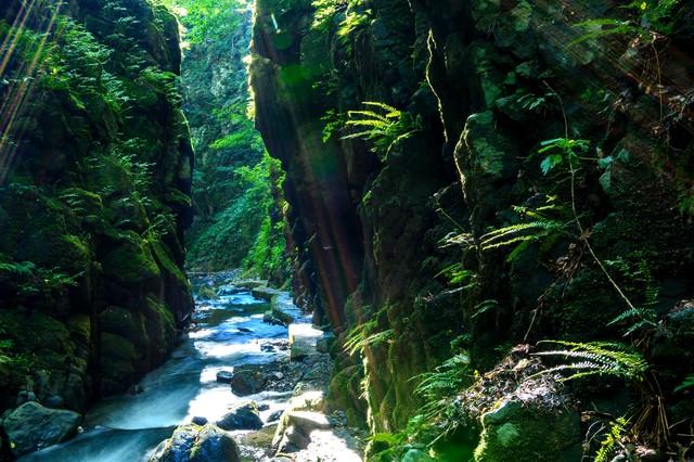 秋田東由利の石沢峡の写真