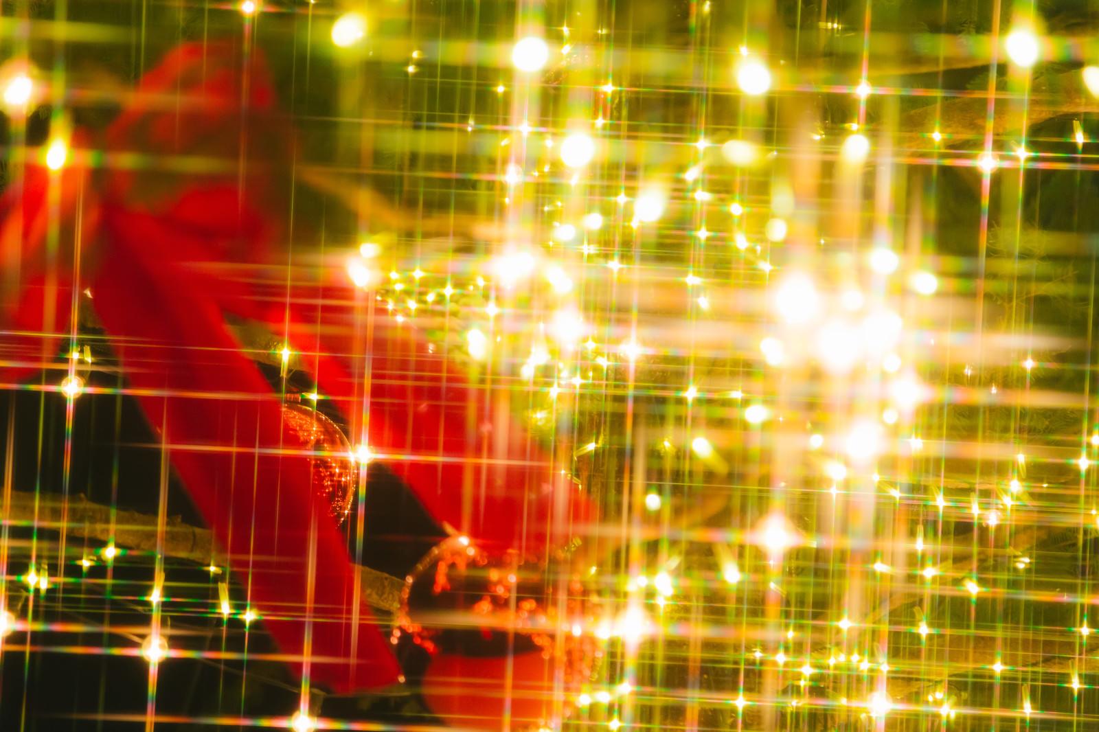 「キラッキラなクリスマスな飾りキラッキラなクリスマスな飾り」のフリー写真素材を拡大