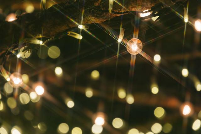 光り輝くライトアップの写真